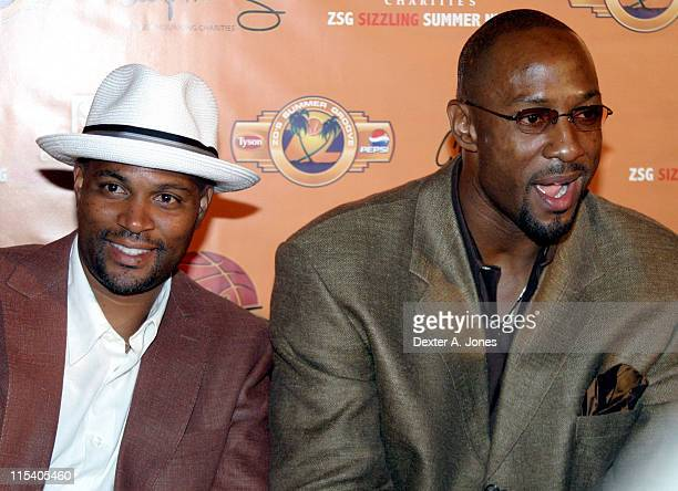 Chris Spencer and Alonzo Mourning during ZSG Gala Dinner and Auction - July 17, 2005 at American Airlines Arena in Miami, Florida, United States.