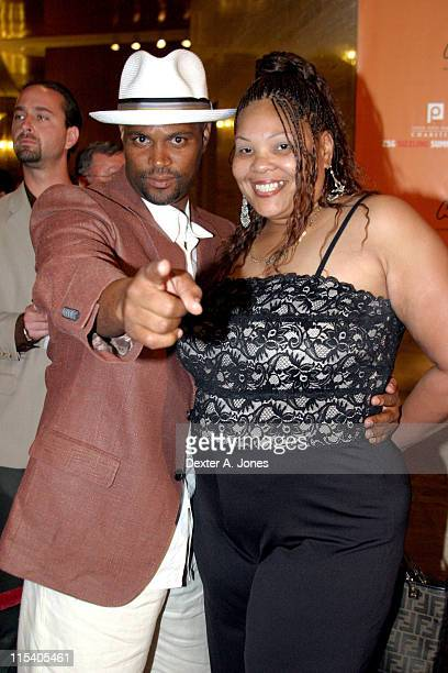 Chris Spencer and Guest during ZSG Gala Dinner and Auction - July 17, 2005 at American Airlines Arena in Miami, Florida, United States.