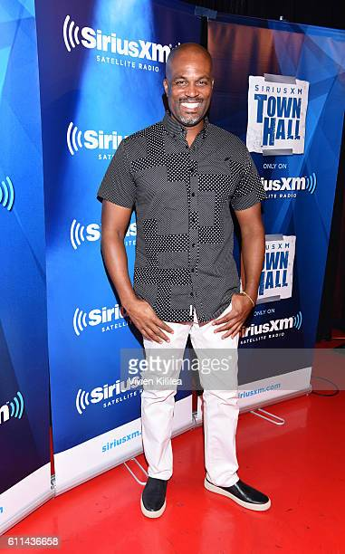 Chris Spencer hosts Comedian Sebastian Maniscalo Talks To SiriusXM's Raw Dog Radio at The Comedy Store on September 29 2016 in West Hollywood...