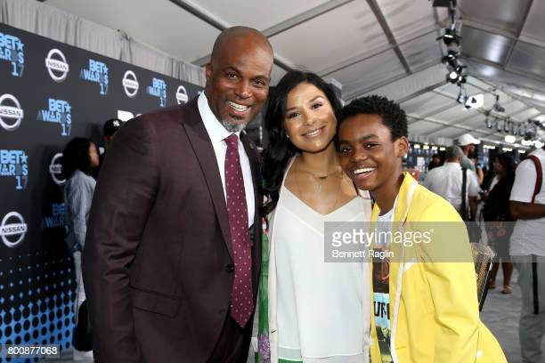 Chris Spencer Vanessa Rodriguez Spencer and Jahi Di'Allo Winston at the 2017 BET Awards at Staples Center on June 25 2017 in Los Angeles California