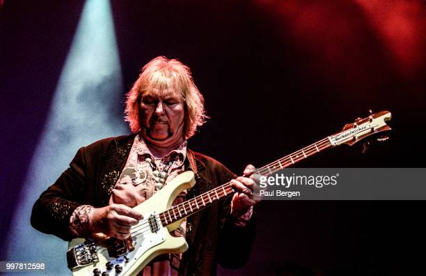 Chris Squire, bassist of British progressive rock band Yes performs in Ahoy, Rotterdam, Netherlands, 24 July 2003.