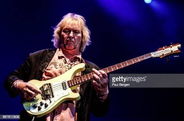 Chris Squire bassist of British progressive rock band Yes performs in Ahoy Rotterdam Netherlands 24 July 2003