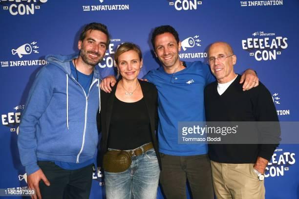Chris Stang, Cameron Diaz, Andrew Steinthal and Jeffrey Katzenberg attend the EEEEEatscon 2019 at Barker Hangar on May 19, 2019 in Santa Monica,...