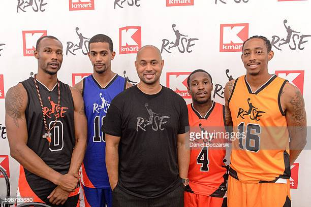 Chris Staples Guy Dupuy Risewear CEO Demetrius Spencer Porter Maberry and Jonathan Clark attend 'A Whole Lotta Awesome' At ReGrand Opening of...