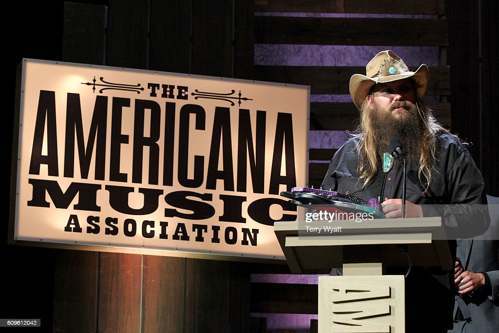 Chris Stapleton accepts the Artist of the Year Award onstage at the Americana Honors & Awards 2016 at Ryman Auditorium on September 21, 2016 in Nashville, Tennessee. at Ryman Auditorium on September 21, 2016 in Nashville, Tennessee.