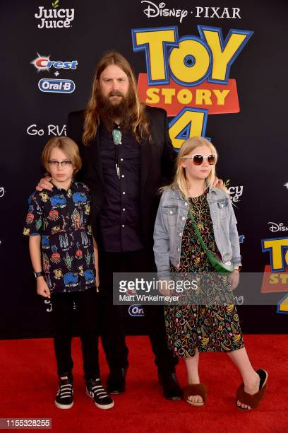 Chris Stapleton and family attend the premiere of Disney and Pixar's Toy Story 4 on June 11 2019 in Los Angeles California