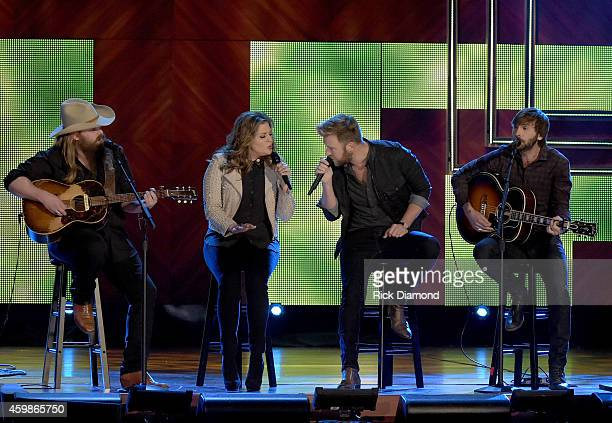 Chris Stapleton and Hillary Scott Charles Kelley and Dave Haywood of Lady Antebellum perform at the 2014 CMT Artists Of The Year at the Schermerhorn...