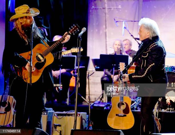 Chris Stapleton and Marty Stuart perform at Marty Stuart's First of Three Shows as ArtistinResidence at Country Music Hall of Fame and Museum on...
