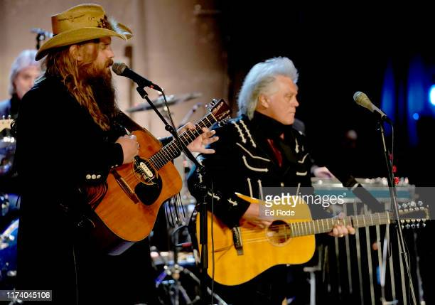 Chris Stapleton and Marty Stuart perform at the First of Three Shows as ArtistinResidence at Country Music Hall of Fame and Museum on September 11...