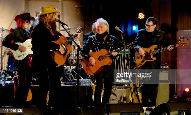Chris Stapleton and Marty Stuart perform with his Fabulous Superlatives at the First of Three Shows as ArtistinResidence at Country Music Hall of...