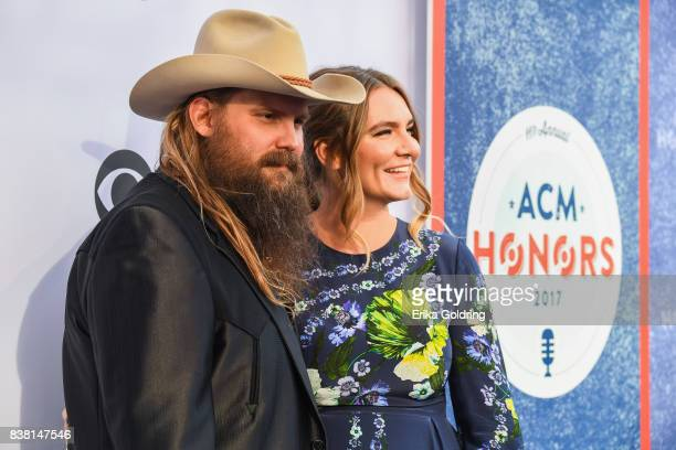 Chris Stapleton and Morgane Stapleton attend the 11th Annual ACM Honors at the Ryman Auditorium on August 23 2017 in Nashville Tennessee