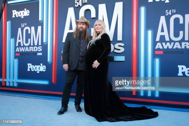 Chris Stapleton and Morgane Stapleton attend the 54th Academy Of Country Music Awards at MGM Grand Garden Arena on April 07 2019 in Las Vegas Nevada