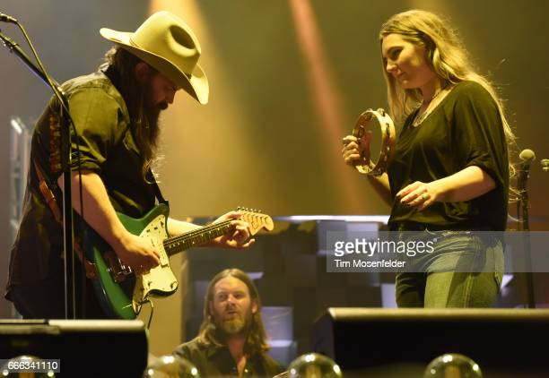 Chris Stapleton and Morgane Stapleton perform during the Tortuga Music Festival at the Fort Lauderdale Beach Park on April 8 2017 in Fort Lauderdale...
