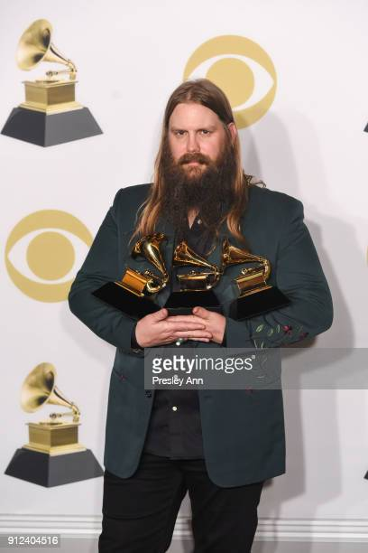 Chris Stapleton attends 60th Annual GRAMMY Awards - Press Room at Madison Square Garden on January 28, 2018 in New York City.