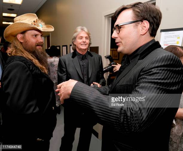 Chris Stapleton Harry Stinson and Chris Scruggs backstage at Marty Stuart's First of Three Shows as ArtistinResidence at Country Music Hall of Fame...