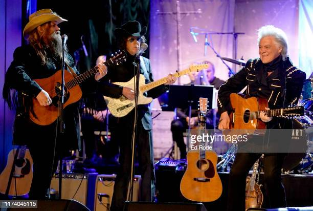 Chris Stapleton Kenny Vaughan and Marty Stuart perform at Marty Stuart's First of Three Shows as ArtistinResidence at Country Music Hall of Fame and...