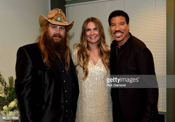 Chris Stapleton Morgane Stapleton and Lionel Richie attend the 2017 CMT Artists Of The Year on October 18 2017 in Nashville Tennessee
