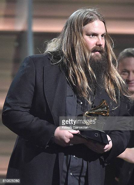 Chris Stapleton onstage during The 58th GRAMMY Awards at Staples Center on February 15 2016 in Los Angeles California