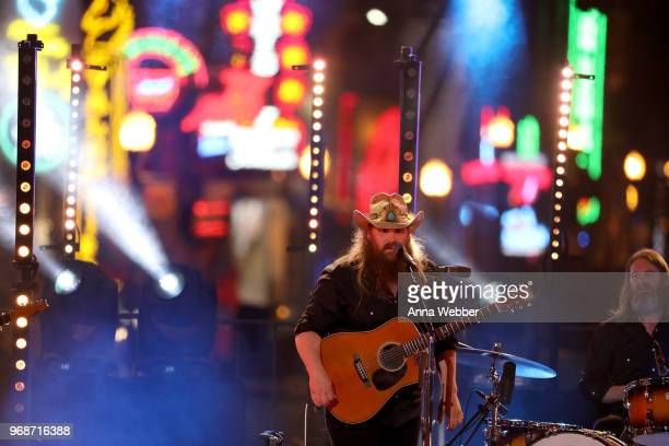Chris Stapleton performs at 2018 CMT Music Awards at Bridgestone Arena on June 6 2018 in Nashville Tennessee