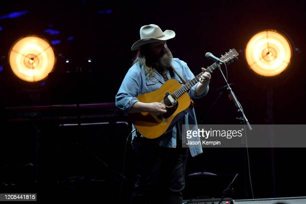 Chris Stapleton performs at All for the Hall Under the Influence Benefiting the Country Music Hall of Fame and Museum at Bridgestone Arena on...