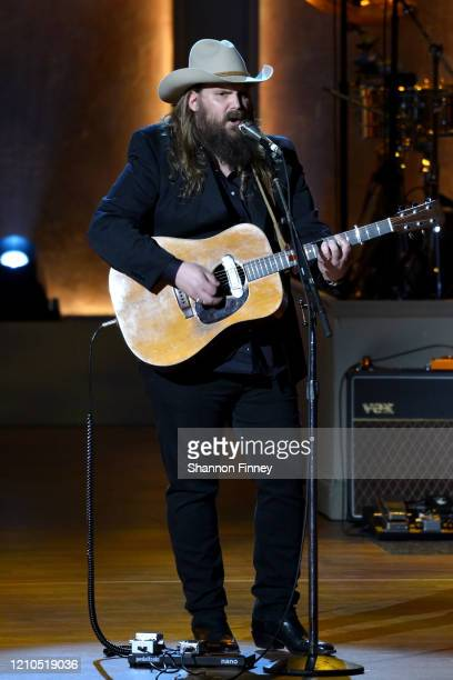 Chris Stapleton performs at The Library of Congress Gershwin Prize tribute concert at DAR Constitution Hall on March 04, 2020 in Washington, DC.