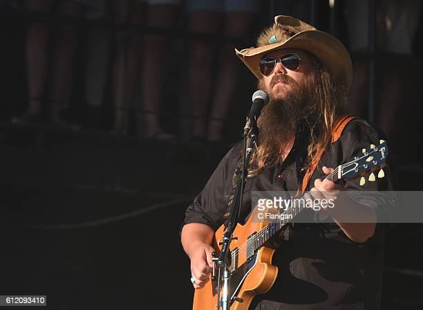 Chris Stapleton performs during the 2016 Austin City Limits Music Festival at Zilker Park on October 2 2016 in Austin Texas