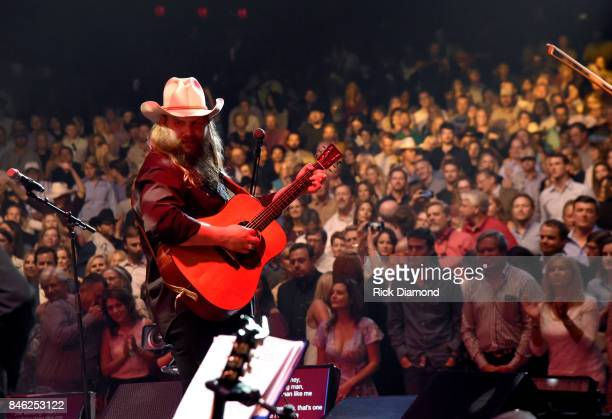 Chris Stapleton performs onstage during George Strait's Hand in Hand Texas benefit concert Strait and special guests Miranda Lambert Chris Stapleton...