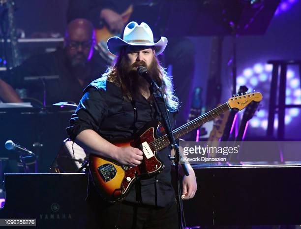 Chris Stapleton performs onstage during MusiCares Person of the Year honoring Dolly Parton at Los Angeles Convention Center on February 8 2019 in Los...