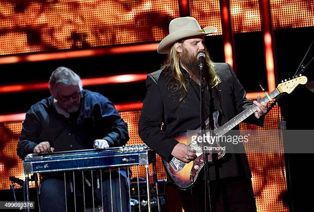 Chris Stapleton performs onstage during the 2015 'CMT Artists of the Year' at Schermerhorn Symphony Center on December 2 2015 in Nashville Tennessee