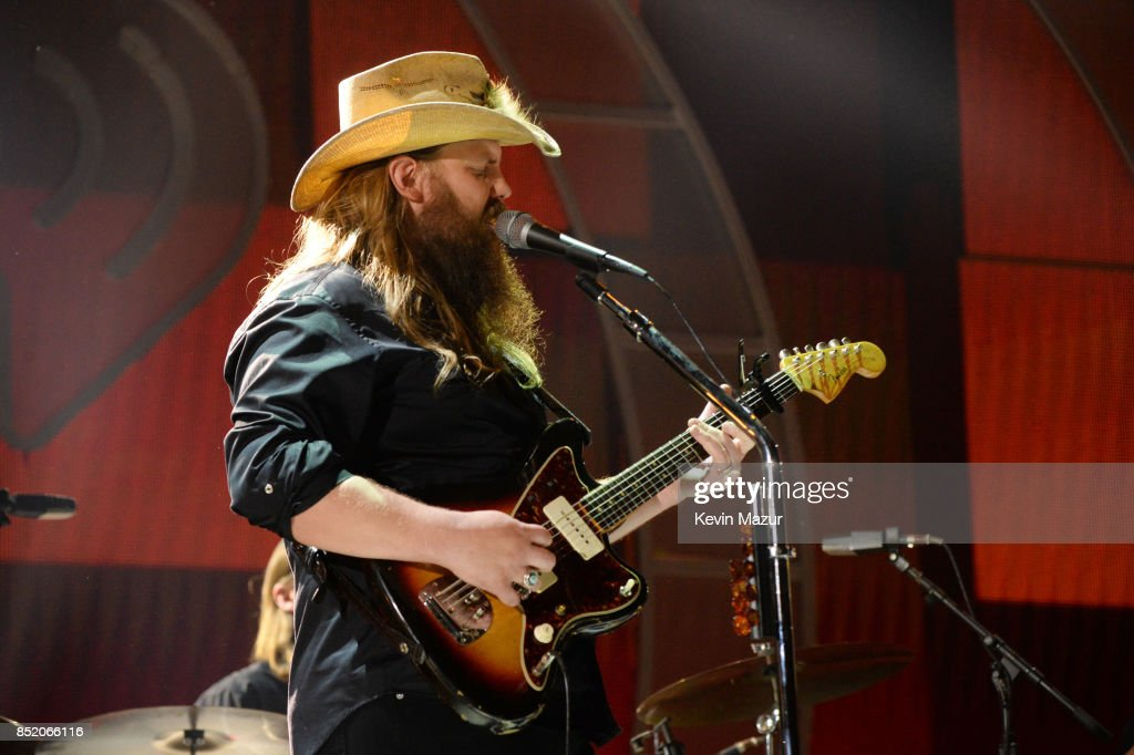 Chris Stapleton performs onstage during the 2017 iHeartRadio Music Festival at T-Mobile Arena on September 22, 2017 in Las Vegas, Nevada.