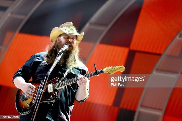 Chris Stapleton performs onstage during the 2017 iHeartRadio Music Festival at TMobile Arena on September 22 2017 in Las Vegas Nevada