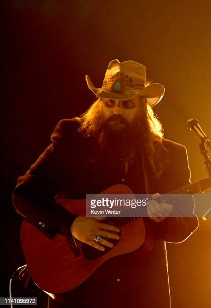 Chris Stapleton performs onstage during the 54th Academy Of Country Music Awards at MGM Grand Garden Arena on April 07 2019 in Las Vegas Nevada