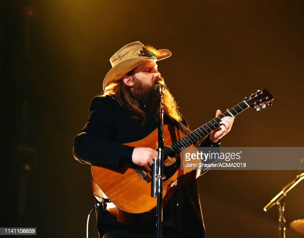 Chris Stapleton performs onstage during the 54th Academy Of Country Music Awards at MGM Grand Garden Arena on April 07, 2019 in Las Vegas, Nevada.