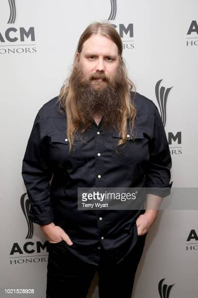 Chris Stapleton takes photos during the 12th Annual ACM Honors at Ryman Auditorium on August 22 2018 in Nashville Tennessee