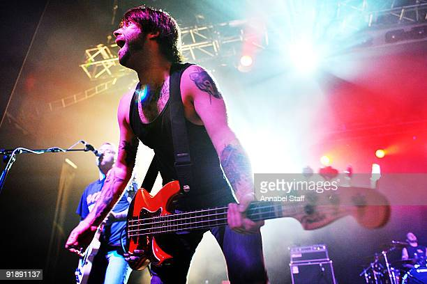 Chris Steel of Alexisonfire performs on stage as part of the Eastpak Antidote Tour at The Forum on October 14 2009 in London England