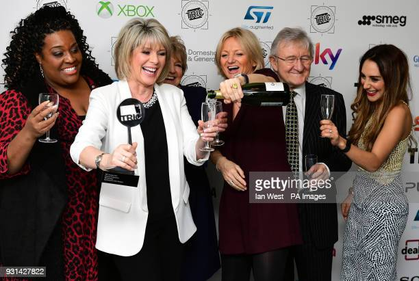 Chris Steele Ruth Langsford Alison Hammond Alice Beer with the Daytime Programme Award for This Morning during the 2018 TRIC Awards at the Grosvenor...