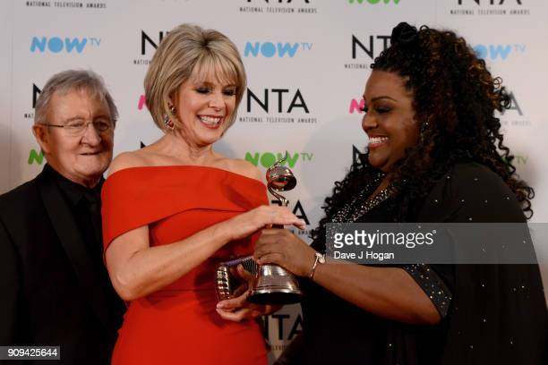 Chris Steele Ruth Langsford and Alison Hammond attend the National Television Awards 2018 at The O2 Arena on January 23 2018 in London England