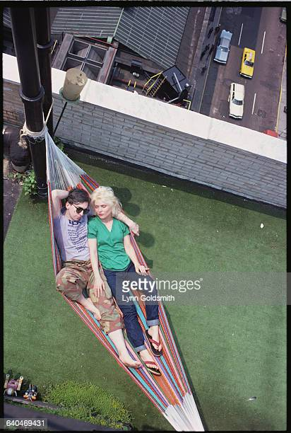 Chris Stein and Debbie Harry of Blondie in a Hammock