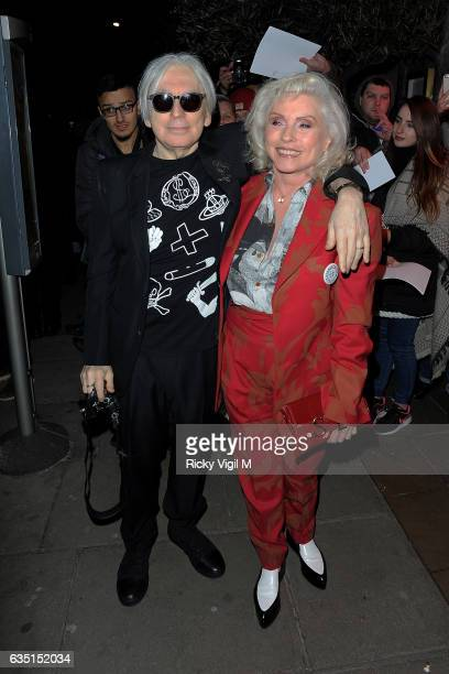 Chris Stein and Deborah Harry arriving at the Elle Style Awards on February 13 2017 in London England