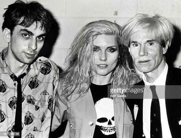 Chris Stein Debbie Harry and Andy Warhol
