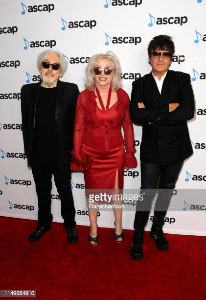 Chris Stein Debbie Harry and Clem Burke of Blondie and attends the 36th annual ASCAP Pop Music Awards at The Beverly Hilton Hotel on May 16 2019 in...