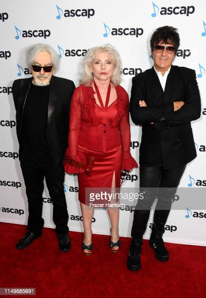 Chris Stein Debbie Harry and Clem Burke of Blondie attend the 36th annual ASCAP Pop Music Awards at The Beverly Hilton Hotel on May 16 2019 in...