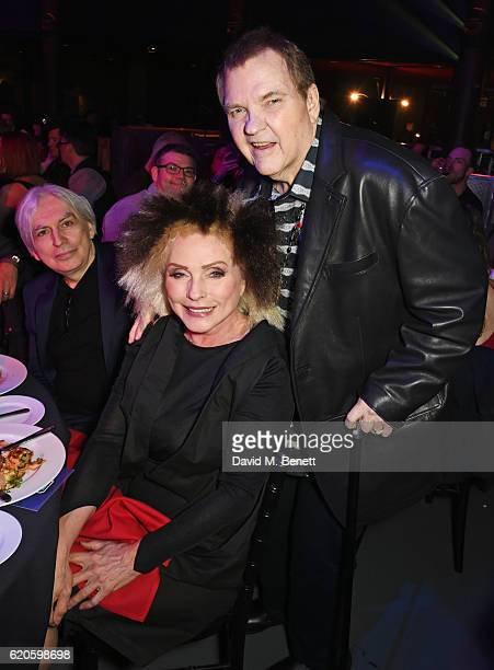 Chris Stein Debbie Harry and Meat Loaf attend a drinks reception at The Stubhub Q Awards 2016 at The Roundhouse on November 2 2016 in London England