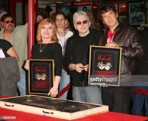 Chris Stein Deborah Harry and Clem Burke of Blondie