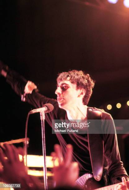 Chris Stein of Blondie performs on stage Toronto Canada 18th August 1982