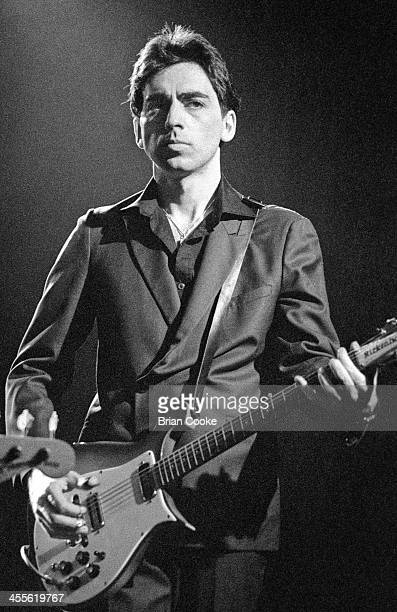 Chris Stein of Blondie playing guitar during the recording of a pop promo for their single 'Picture This' at Isleworth Studios Isleworth London on 21...