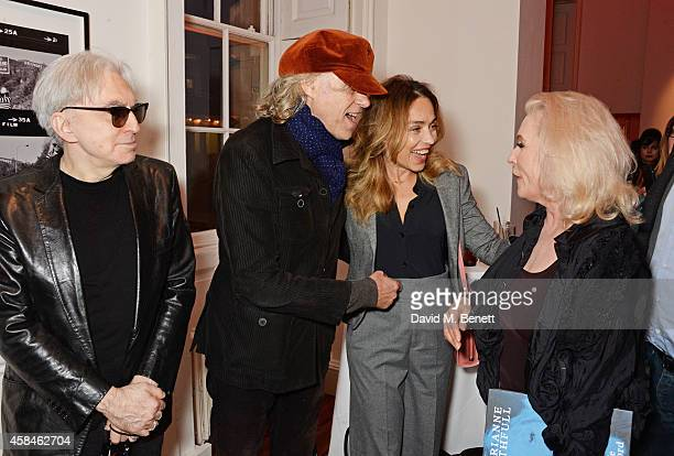 Chris Stein Sir Bob Geldof Jeanne Marine and Debbie Harry attend the private view of 'Chris Stein/Negative Me Blondie and the Advent of Punk' at...