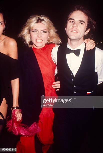 Chris Stein with an angry Deborah Harry circa 1980 New York