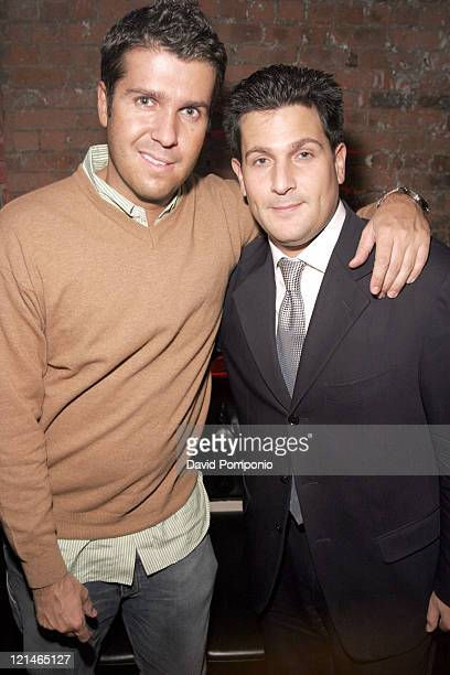 Chris Stern and Lance Kormen during Thrillistcom Launch Party at Home in New York City New York United States