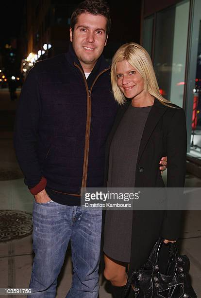 Chris Stern and Lizzie Grubman attend the Blue Cream Bowery Store Launch at the Blue Cream Store on Novemeber 16 2007 in New York City